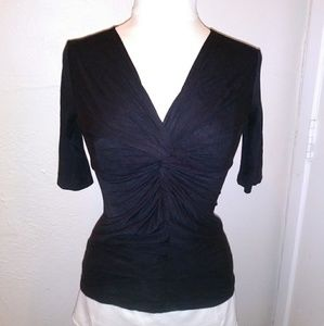 Anthropologie Deletta Black Knot Top